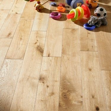 18mm x 125mm European Oak Brushed & Oiled Solid Wood Flooring (SKU-188577)