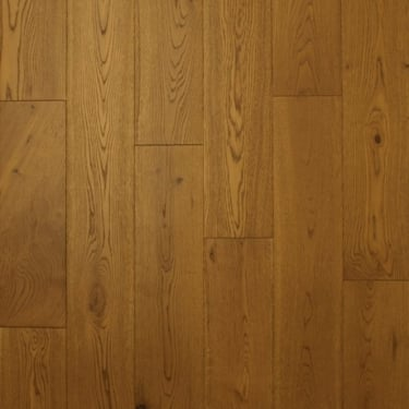 18mm x 150mm Golden Wheat Oak Brushed & Matt Lacquered Engineered Real Wood Flooring (2620)