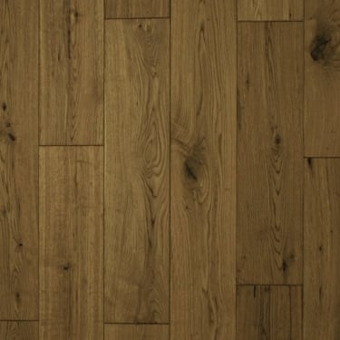 18mm x 150mm Smoked Oak Brushed & Matt Lacquered Engineered Real Wood Flooring (2622)