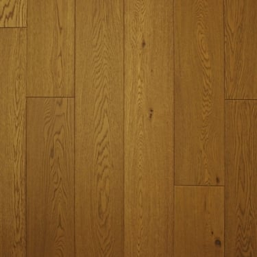 18mm x 189mm Golden Wheat Oak Brushed & Matt Lacquered Engineered Real Wood Flooring (2614)