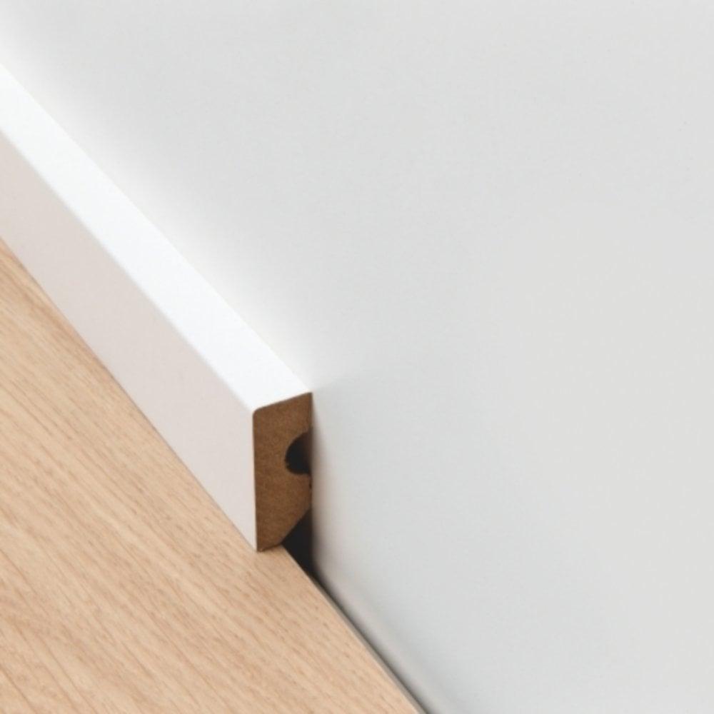 2 4m Paintable Skirting Board For Laminate Flooring Qspskr4paint