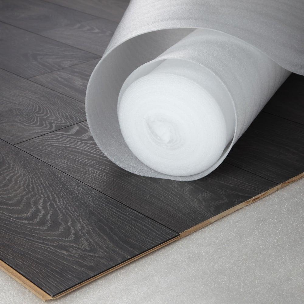 Wood Plus Acoustic White Foam 2mm, Paper Underlayment For Laminate Flooring