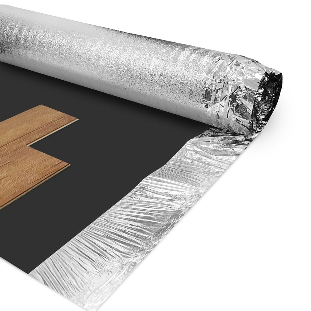 Wood plus 3mm combi silver vapour flooring underlay for Laminate flooring underlay