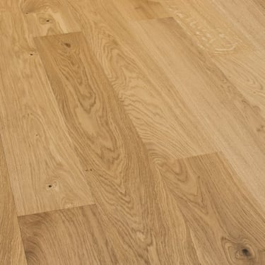 5G Click 13.5mm x 160mm Natural Oak Matt Lacquered Engineered Real Wood Flooring (SKU-157762)