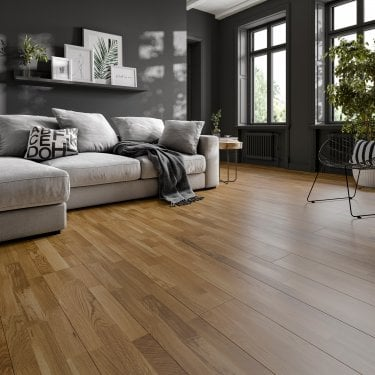 5G Click 3 Strip 13.5mm x 190mm Natural Oak Matt Lacquered Engineered Real Wood Flooring (JV3S-NOML)
