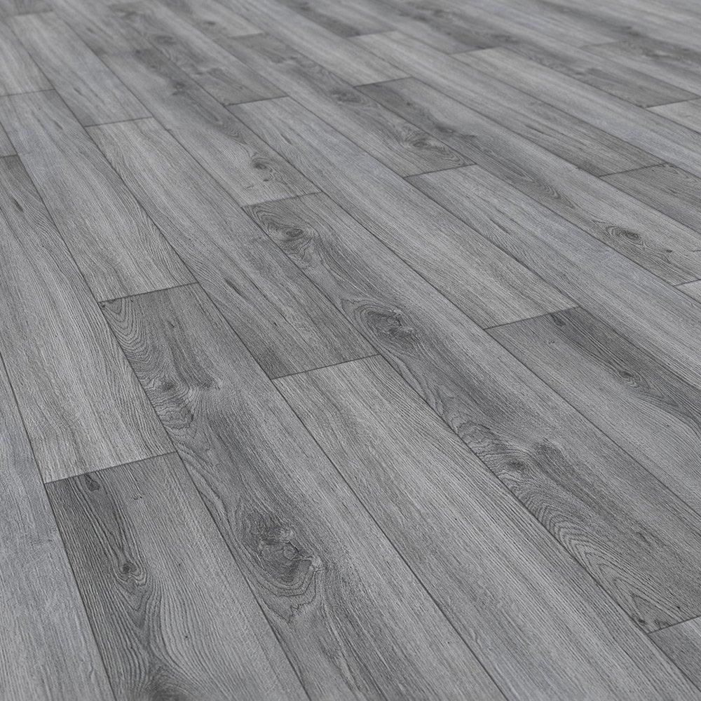 Kronotex Advanced 8mm Millenium Oak, Slate Colored Laminate Flooring
