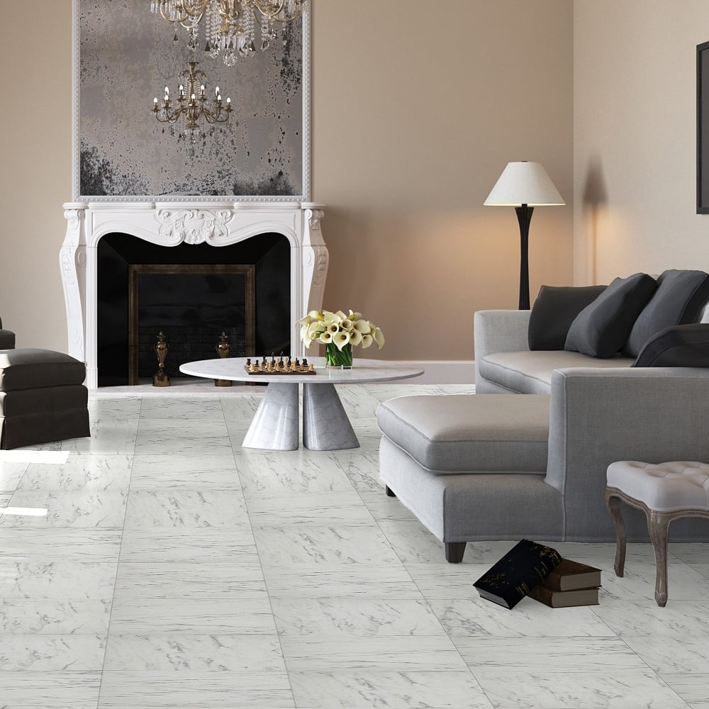 Arte 9 5mm carrara marble tile laminate flooring uf1400