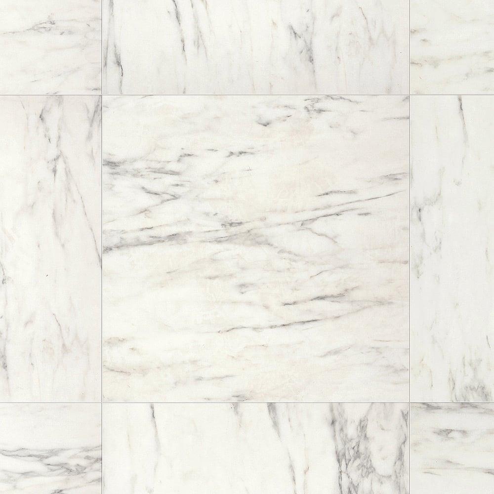 Arte 9 5mm Carrara Marble Tile Laminate Flooring (UF1400)