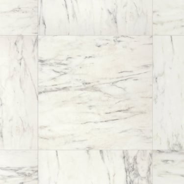 Arte 9.5mm Carrara Marble Tile Laminate Flooring (UF1400)