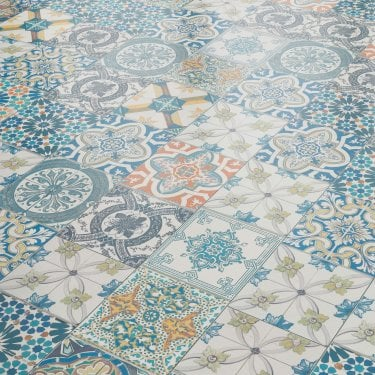 Aurora 8mm Ornate Moroccan Tile Laminate Flooring (47547)