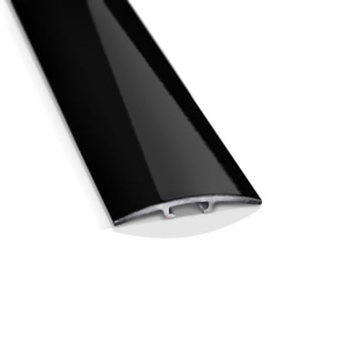 Black High Gloss Flat Cover Door Bar