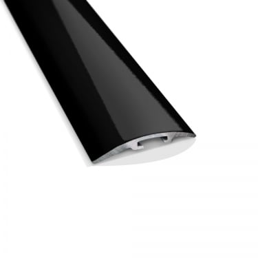 Black High Gloss Stepped Cover Door Bar