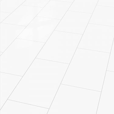 Brilliant Life 8mm Arctic White Tile High Gloss Laminate Flooring (775531)