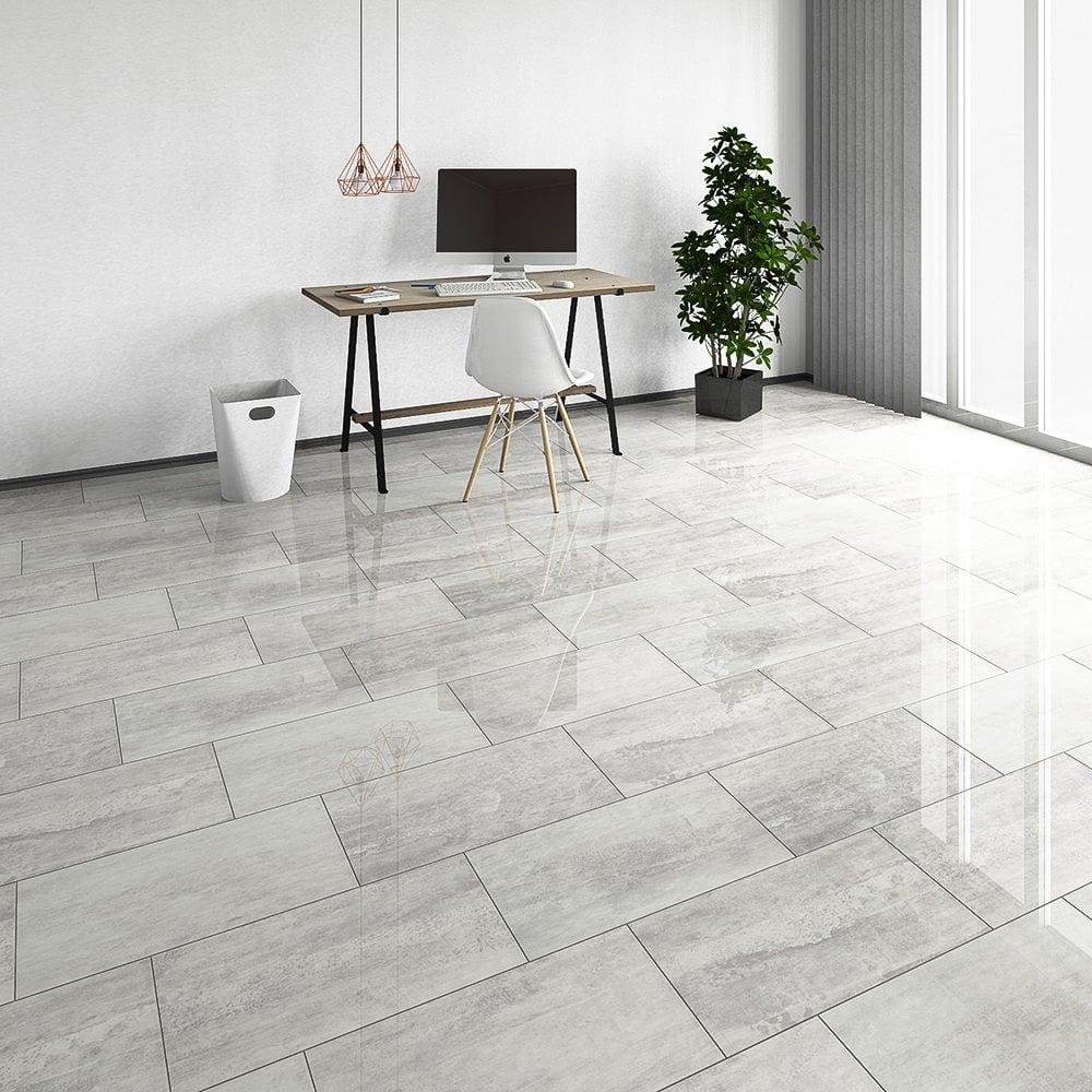 Brilliant Life 8mm Salina Tile High Gloss Laminate Flooring 775561