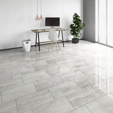 Brilliant Life 8mm Salina Tile High Gloss Laminate Flooring (775561)