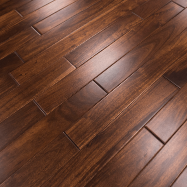 Classic 18mm x 75mm Asian Walnut Stained & Clear Lacquered Solid Wood Flooring (SKU-152681)