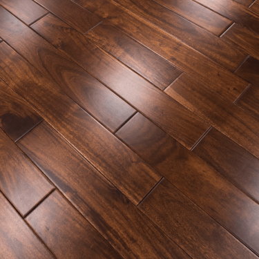 Classic 18mm x 93mm Rich Acacia Asian Walnut Lacquered Solid Wood Flooring (SKU-152679)