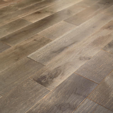Wood+ Flooring Classic 18x154mm Mystic Grey Brushed & Lacquered Solid Oak Flooring