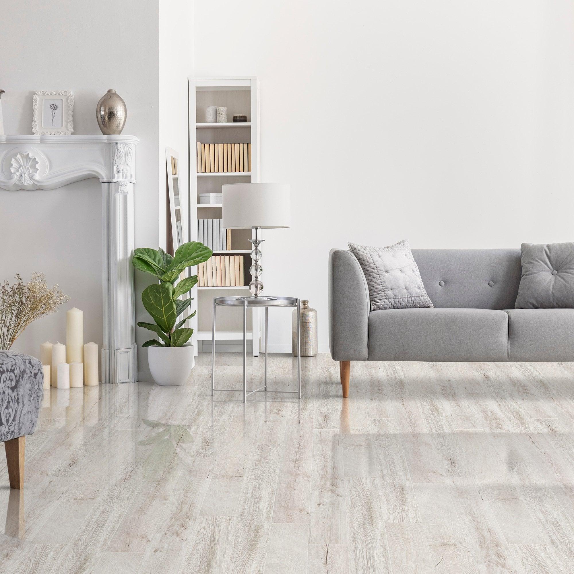 Kaindl Easy Touch 8mm Oak Fresno Snow, Laminate Flooring Living Room