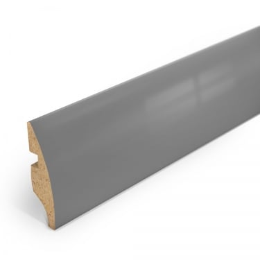Grey High Gloss Rounded Skirting Board