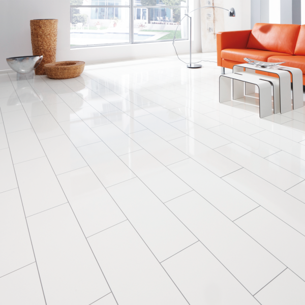 V5 7 7mm arctic white micro groove high gloss flooring leader floors