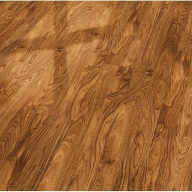 Elesgo Supergloss Black Walnut Flat Edge Laminate Flooring