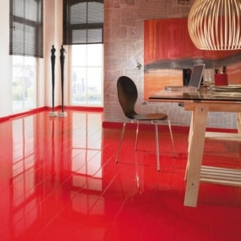 Elesgo Supergloss Extra Sensitive Red Laminate Flooring