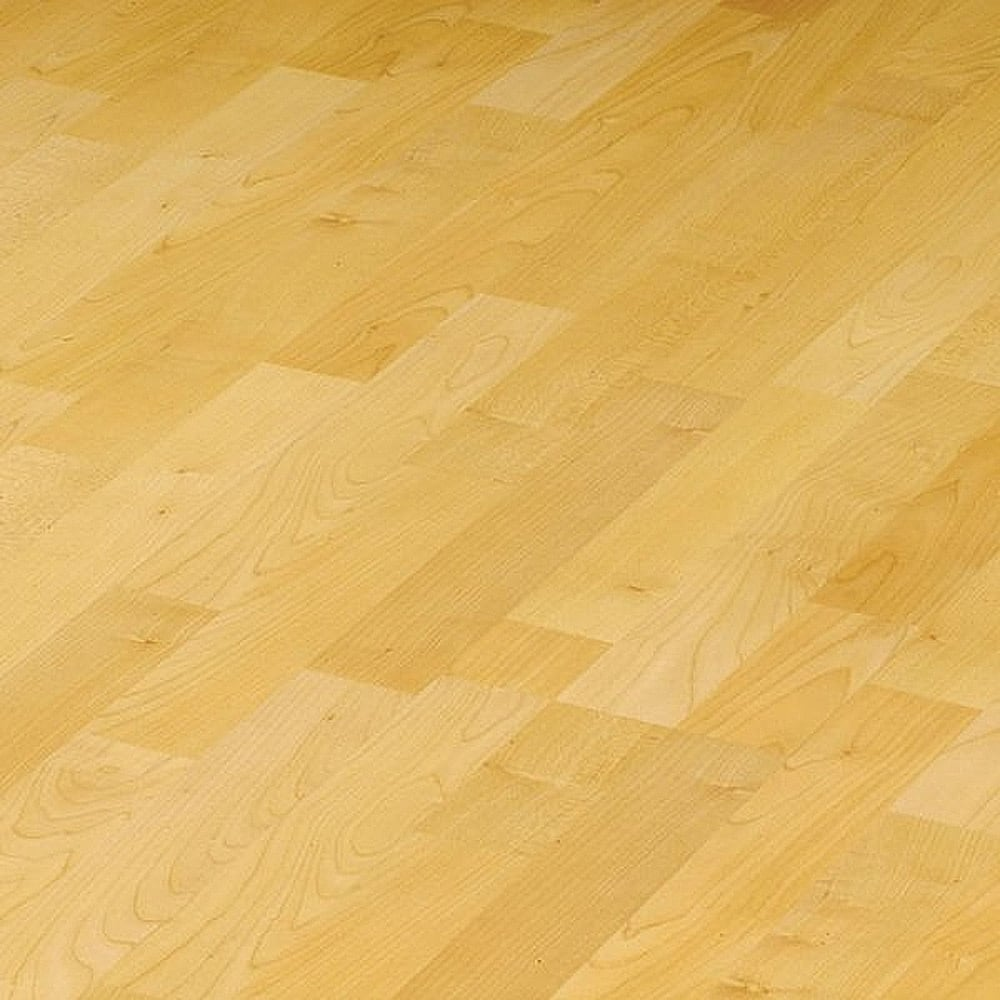 Elesgo wellness flat edge golden maple laminate for Maple laminate flooring