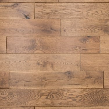 18x130mm Rustic Lacquered Golden Oak Solid Wood Flooring