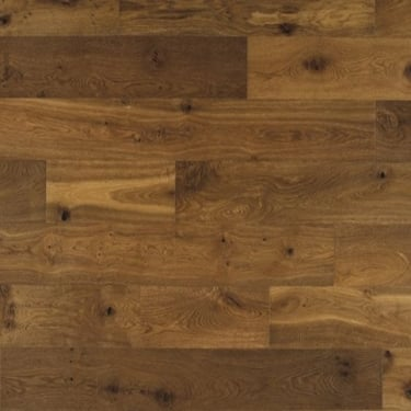 Classic 14mm x 190mm Brushed & UV Oiled Caramel Oak Engineered Real Wood Flooring (ELKA14CARAMEL)