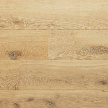 Classic 14mm x 190mm Brushed & UV Oiled Champagne Oak Engineered Real Wood Flooring (ELKA14CHAMP)