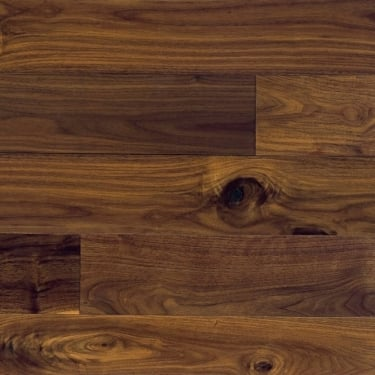 Classic 18mm Lacquered Black Walnut Engineered Real Wood Flooring (ELKA18LBWALNUT)