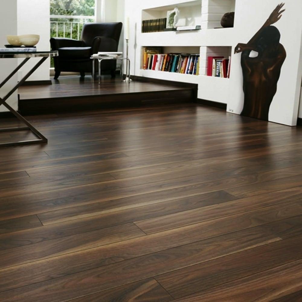 Eurohome Vario 12mm Dark Walnut Laminate Flooring 7658