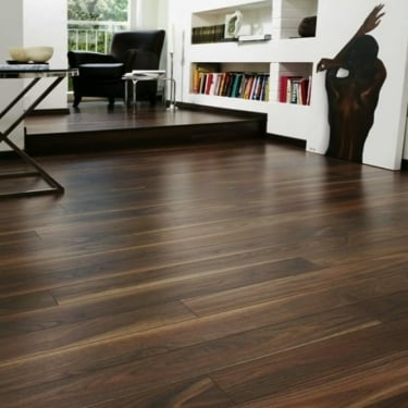 Krono Original Eurohome Vario+ 12mm Rich Walnut 4V Groove Laminate Flooring (7658)