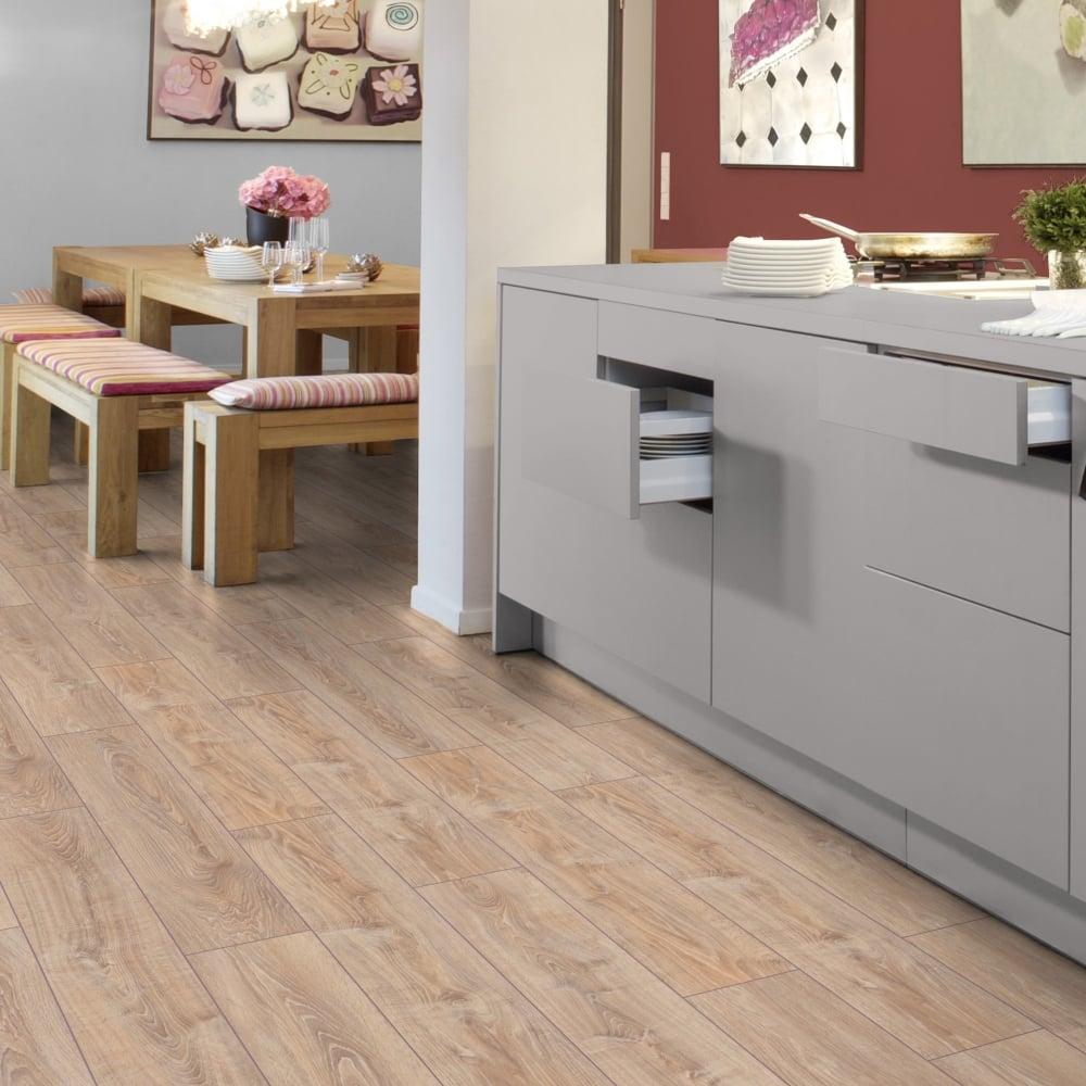 Kronotex Exquisite 8mm Whitewashed Oak, Laminate Flooring White Washed Oak