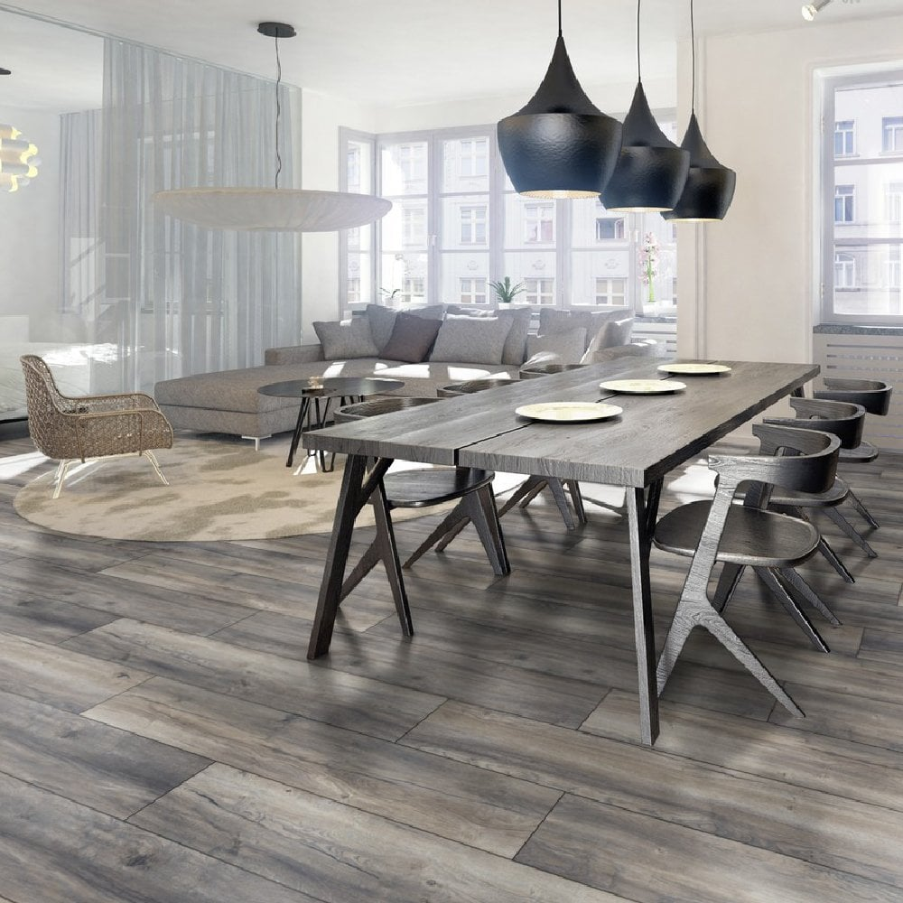 Kronotex Exquisite Plus Harbour Grey Oak Laminate Flooring