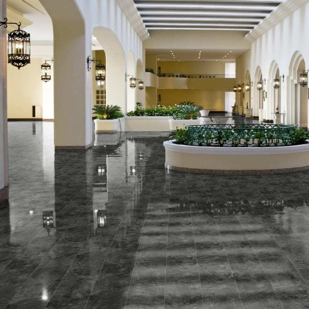 Falquon high gloss 4v stone effect 8mm pindos tile high gloss high gloss 4v stone effect pindos laminate flooring tile d3527 dailygadgetfo Choice Image