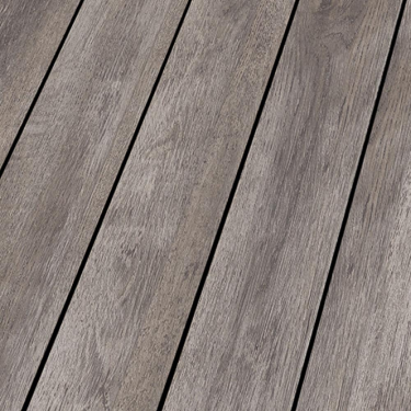 High Gloss Black Strip 10mm Matt White Oak Laminate Flooring (D4187)