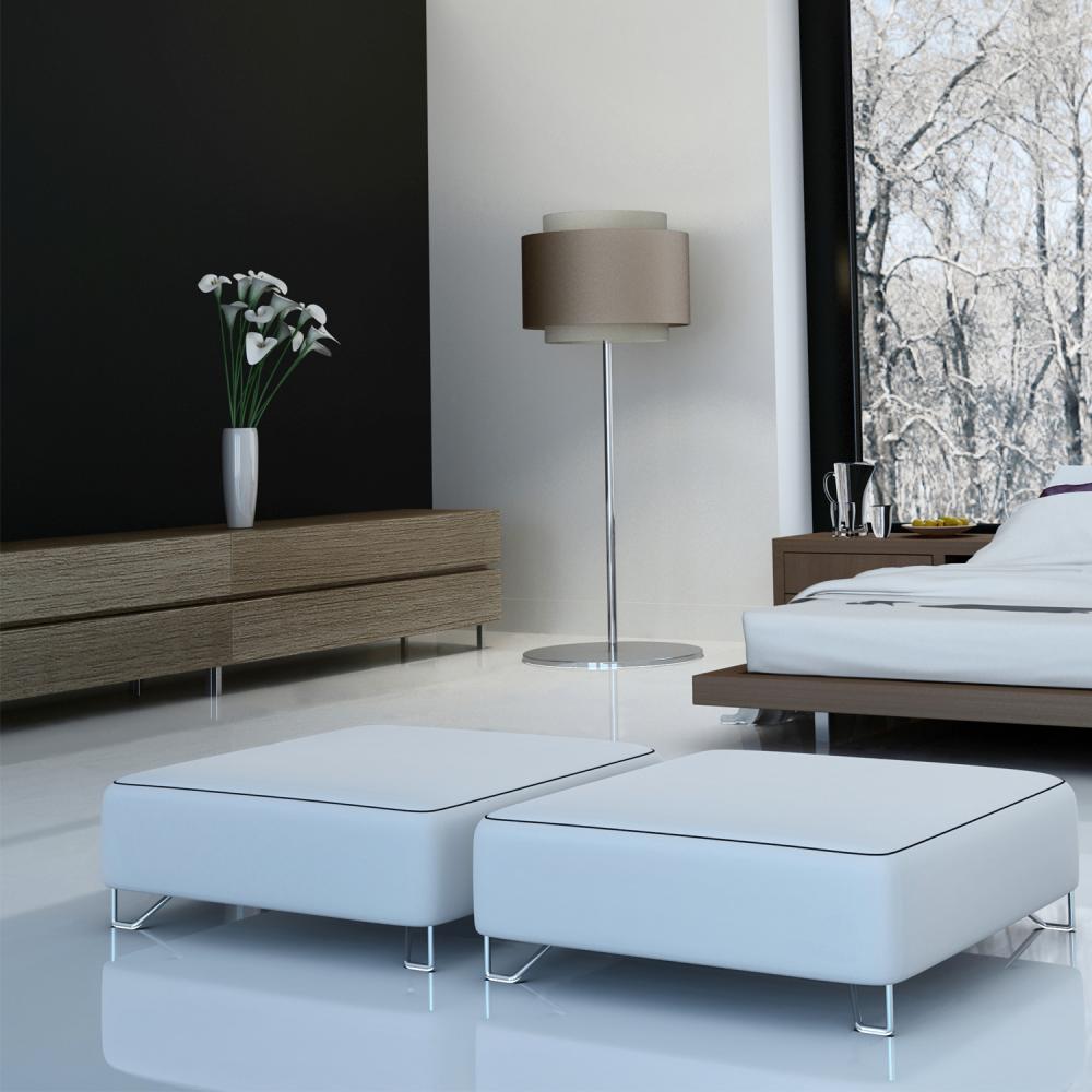 High Gloss Flat Edge 8mm White Laminate Flooring (C500)