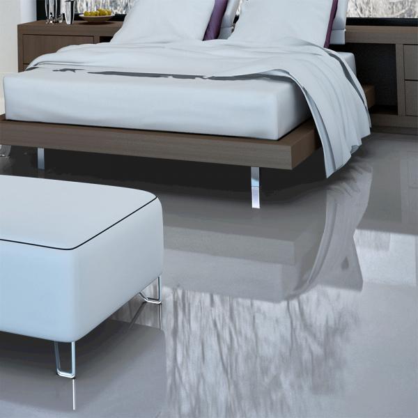 High Gloss Laminate Flooring silver oak Falquon Flooring High Gloss Flat Edge Grey Laminate Flooring D3550