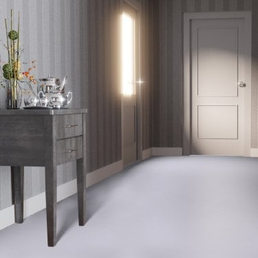 Falquon Flooring High Gloss Flat Edge Grey Laminate Flooring (D3550)