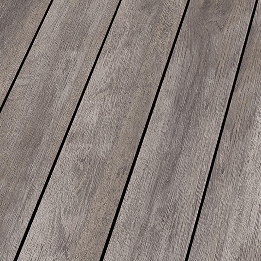 Falquon supermatt with black strip 10mm white oak ocean for Black laminate flooring
