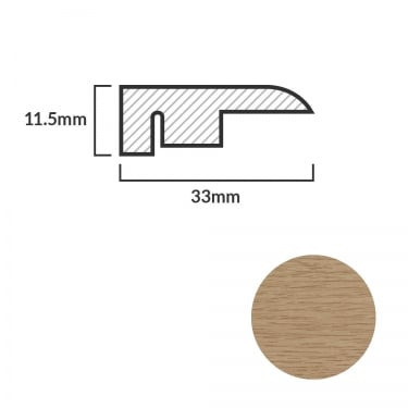 FC13 Laminate End Profile Door Bar