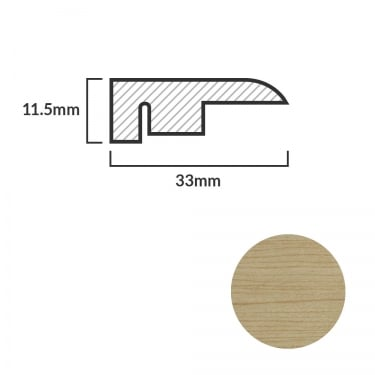FC16 Laminate End Profile Door Bar