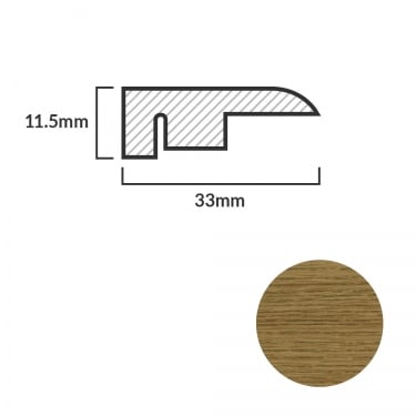 FC24 Laminate End Profile Door Bar