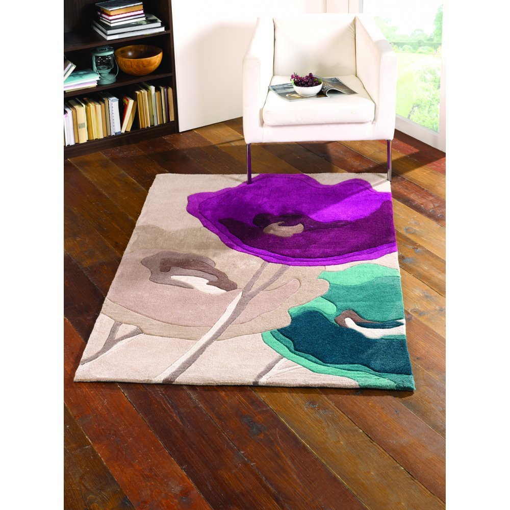Flair Rugs Infinite Mod Art Purple & Teal Rug