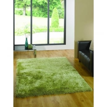 Flair Rugs Santa Cruz Summertime Soft Green Plain Rug