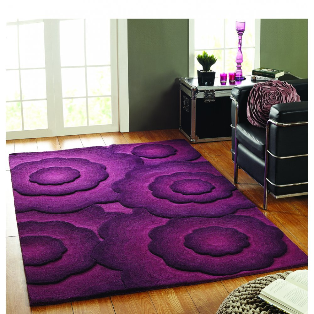 Xl Purple Rug: Flair Rugs Textures Realm Purple Rug