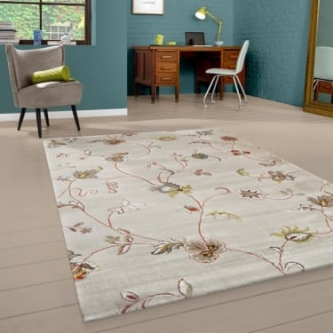 Bloom 54512-054 Orange Floral Rug
