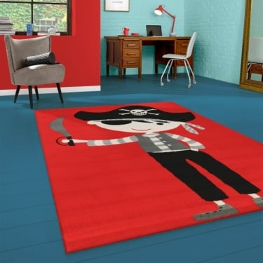 Flair 33122-110 Red Pirate Rug